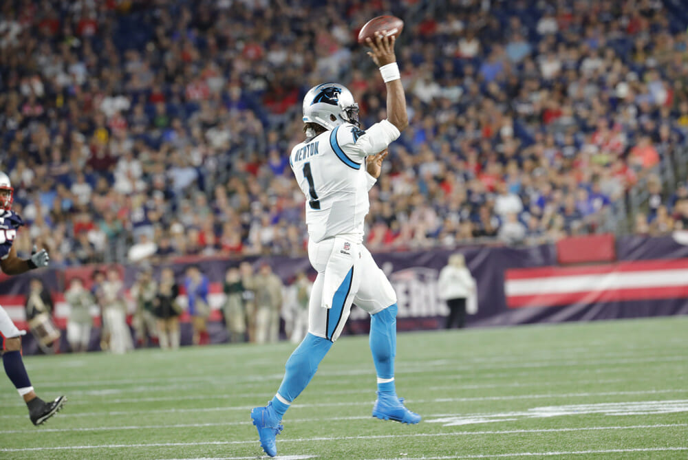 new england patriots sign cam newton