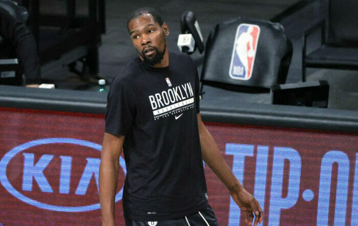 Kevin Durant of the Brooklyn Nets